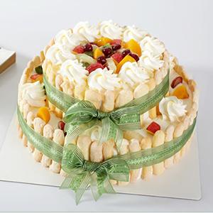 蛋糕/快乐城堡: 新鲜水果、优质奶油、鸡蛋牛奶蛋糕胚  [包