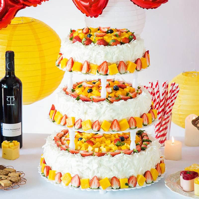 蛋糕/欢乐序曲: 奶油、鸡蛋、芒果、草莓、巧克力  [包 装]