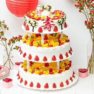 蛋糕/添褔纳寿: 奶油、鸡蛋、时令水果  [包 装]:高档礼盒