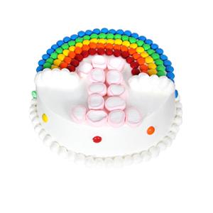 """蛋糕/ 快乐成长: 彩虹豆、棉花糖""""1""""岁造型(数字可以更换)"""