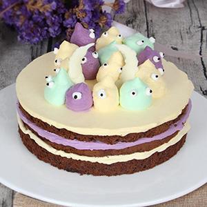 蛋糕/摩羯座专属蛋糕:巧克力鲜奶胚+新鲜奶油,甜而不腻 祝 愿:善良坚韧