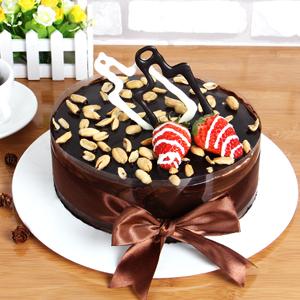 蛋糕/水瓶座专属蛋糕:巧克力片、花生豆、时令水果、新鲜奶油,鸡蛋牛奶水果夹