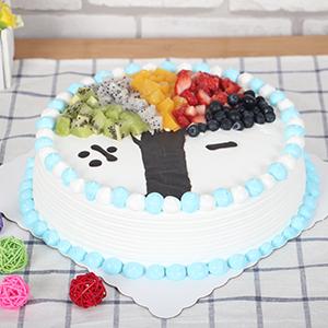 蛋糕/六一童趣: 新鲜奶油搭配时令水果  [包 装]:高档礼盒