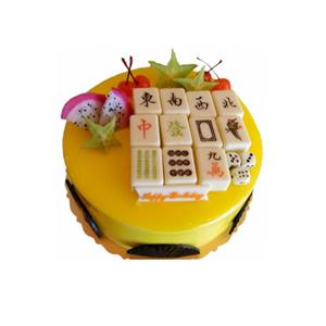 蛋糕/天天向上: 圆形巧克力水果蛋糕,时令水果,巧克力装饰(仅北