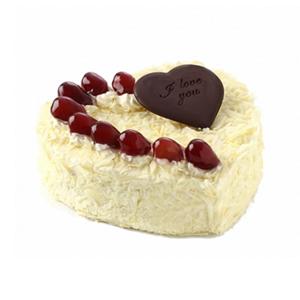 蛋糕/精彩人生: 心形欧式鲜奶蛋糕,水果点缀装饰,黑色巧克力片点