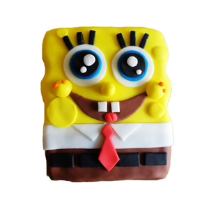 蛋糕/【翻糖蛋糕】海绵宝宝: 翻糖蛋糕(需提前预定)  [包 装]:购买蛋