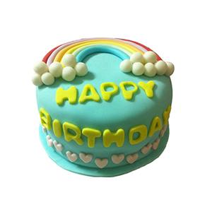 蛋糕/【翻糖蛋糕】恋上霓虹: 翻糖蛋糕(需提前预定)  [包 装]:购买蛋