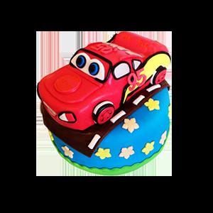 蛋糕/【翻糖蛋糕】汽车总动员: 翻糖蛋糕(需提前预定。双层蛋糕,上下两层的尺寸