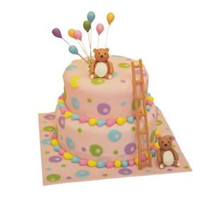 蛋糕/【翻糖蛋糕】大熊的糖果屋: 翻糖蛋糕(需提前预定。双层蛋糕,上下两层的尺寸