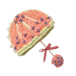蛋糕/为你挡雨: 伞形鲜奶创意蛋糕  [包 装]:购买蛋糕附送