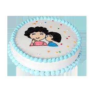 蛋糕/妈妈,我爱您:原材料:圆形奶油蛋糕,选用新鲜奶油、原味戚风蛋糕胚  蛋糕