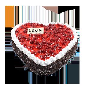 蛋糕/爱的勇气:新鲜奶油,酸甜果酱,巧克力屑围边 祝 愿:让一切无