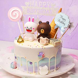 蛋糕/可爱公主:进口优质淡奶油,巧克力、威化等 祝 愿:萌萌哒的蛋