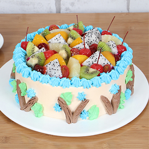 蛋糕/快乐星球:原材料:时令水果 奶油  蛋糕说:无论在外有多少烦恼的事情