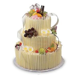 蛋糕/圆舞曲: 3层艺术蛋糕(每一层是双层胚子),水果装饰