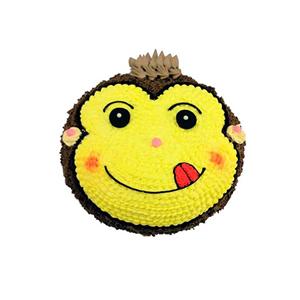 蛋糕/嬉皮猴: 顽皮小猴形状奶油蛋糕  [包 装]:购买蛋糕