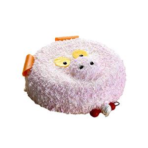 蛋糕/猪之梦: 可爱小猪形状奶油蛋糕。(该款为艺术蛋糕,请提前