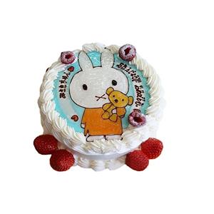小兔子可爱蛋糕图片