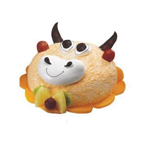 蛋糕/牛牛: 牛牛形状奶油蛋糕。(该款为艺术蛋糕,请提前咨询