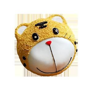 蛋糕/精灵虎:优质新鲜奶油 祝 愿:虎头虎脑,虎虎生威 保 存