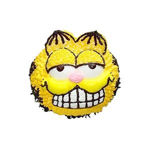 蛋糕/加菲的幸福生活: 黄色小猫咪形状奶油蛋糕。(该款为艺术蛋糕,请提