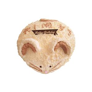蛋糕/木木鼠: 小老鼠形状的奶油蛋糕。(该款为艺术蛋糕,请提前