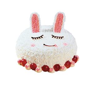 蛋糕/咪咪兔: 可爱小兔形状蛋糕,时令水果装饰。(该款为艺术蛋