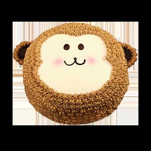 蛋糕/小猴可可:新鲜奶油+水果夹层 祝 愿:健康快乐,开心成长!