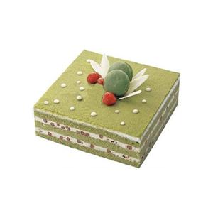 蛋糕/春的浪漫: 方形抹茶蛋糕,红豆夹层。  [包 装]:购买
