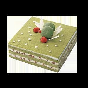 蛋糕/春的浪漫:美味抹茶+马卡龙点缀 祝 愿:浪漫的美味,享受这一