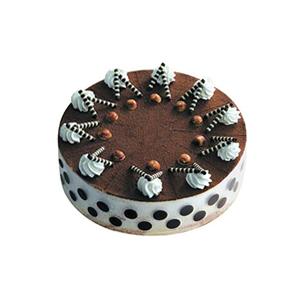 蛋糕/最浪漫的事: 提拉米苏蛋糕,奶油和巧克力卷装饰。(请提前2-