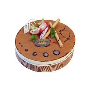 蛋糕/远走天涯: 咖啡味提拉米苏蛋糕,时令水果(请提前2-3天以
