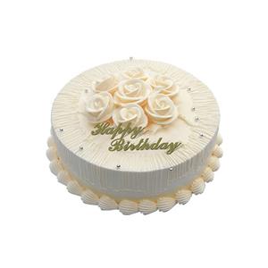 蛋糕/温馨一刻: 圆形冰淇凌蛋糕,同色奶油花装饰(请提前2-3天