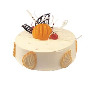 蛋糕/甜蜜港湾: 圆形冰淇凌蛋糕,时令水果装饰(请提前2-3天以