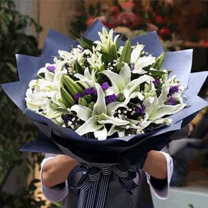鲜花/信仰:33枝精品白百何韩式包装 花 语:相信信仰,相信爱